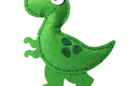 Как сшить динозавра из плюша